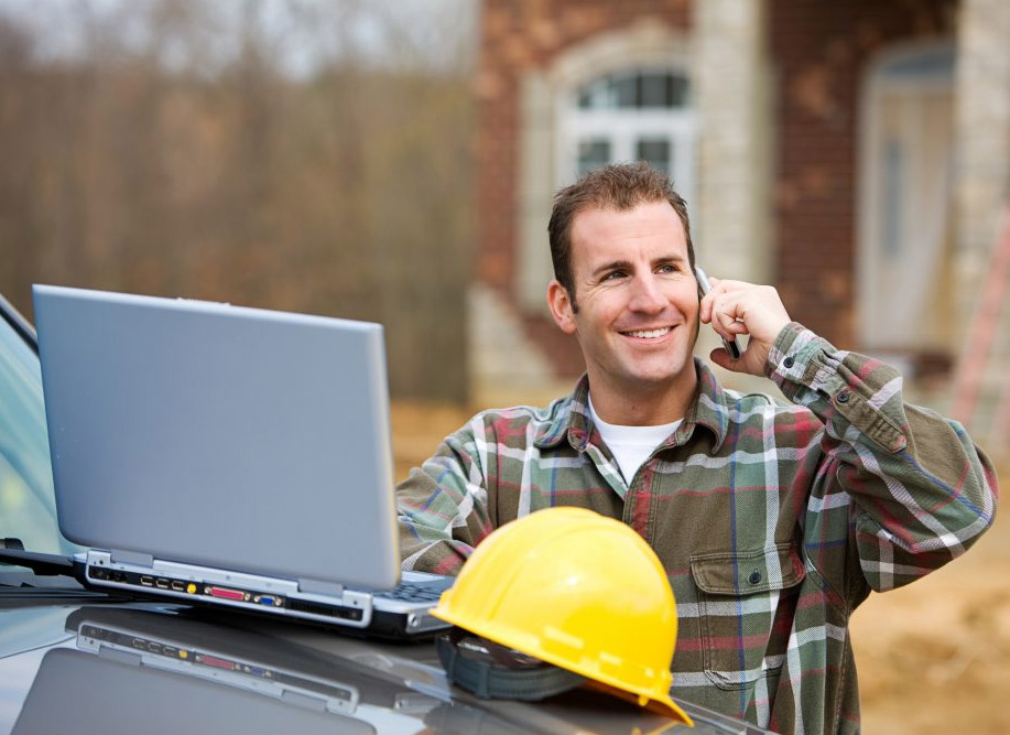 Happy worker. Builder's Risk Insurance Cover