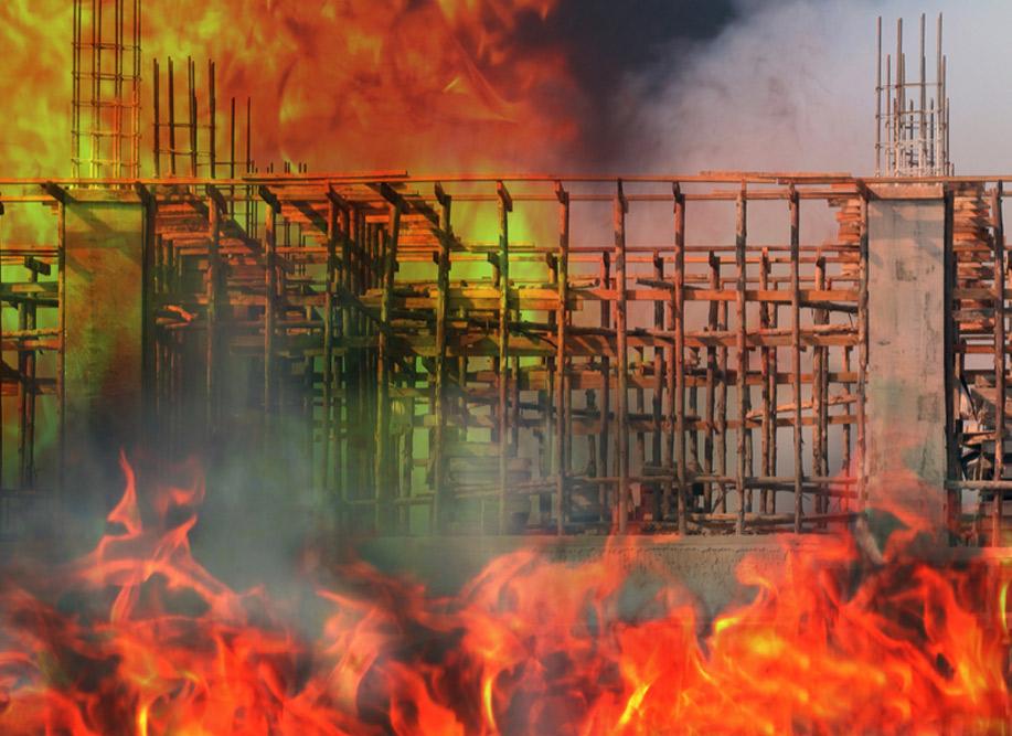 Construction Site Fire!