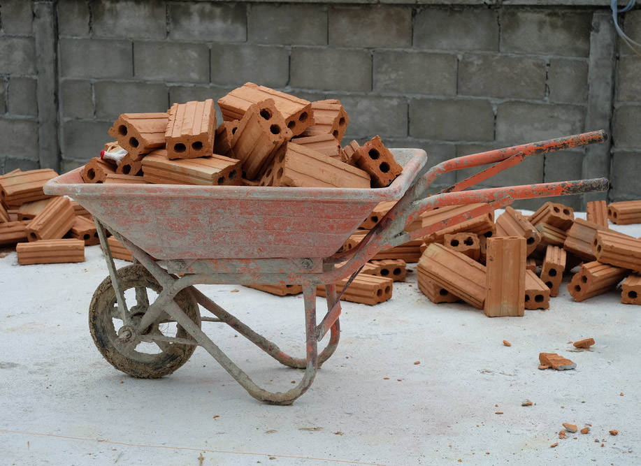 Brick cart. Builder's Risk Benefits