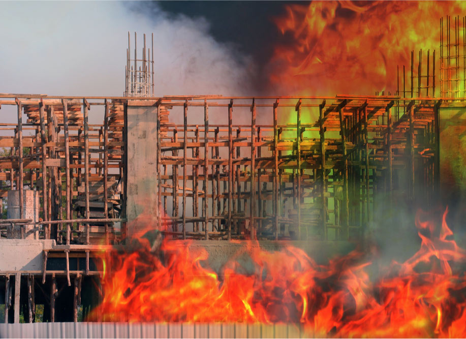 burning construction